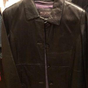 Women's leather coat
